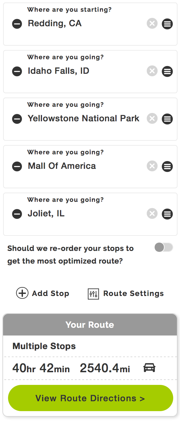 How Can I Optimize My Route On Route Planner Mapquest Help >> Mapquest Road Trip Planner How To Make It Work For You